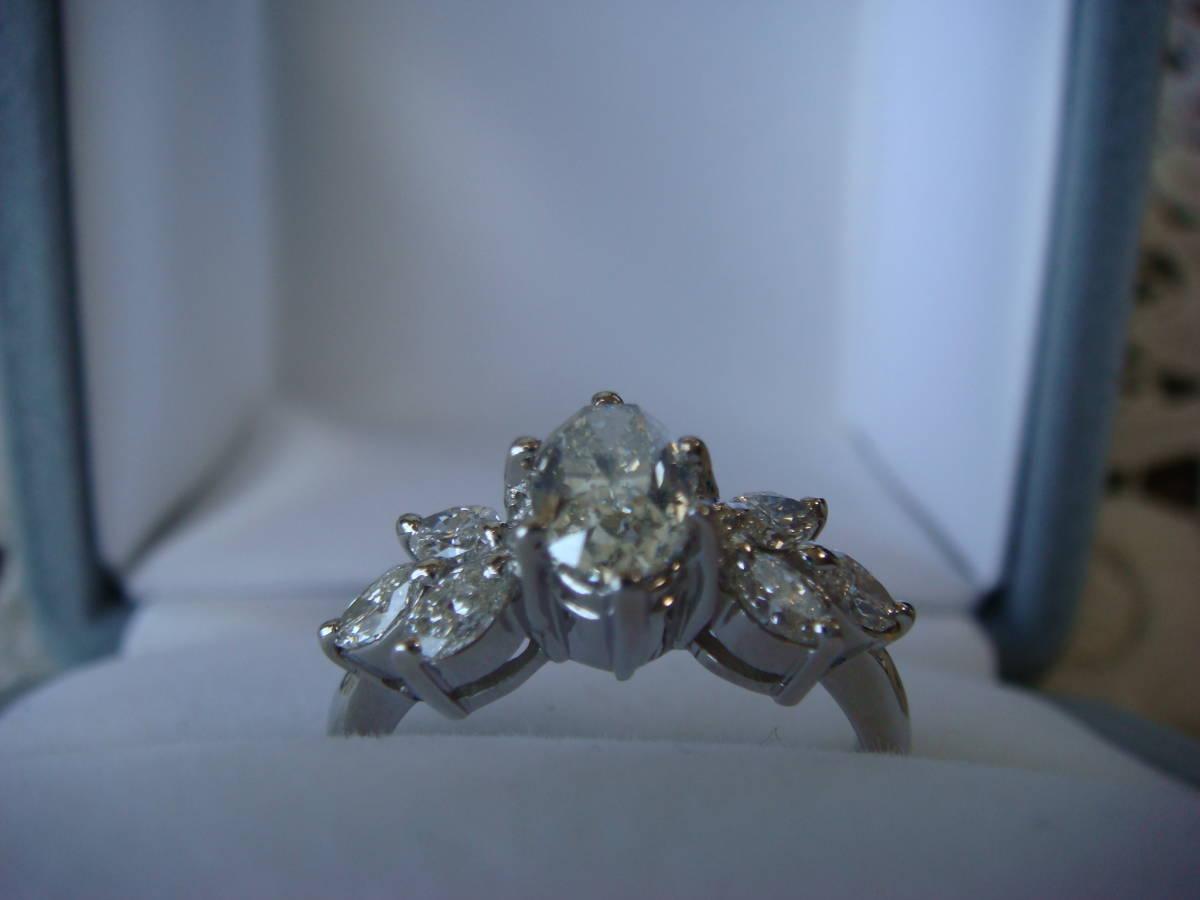 ◎オーバルカット 1,057カラット ダイヤモンドリング◎_画像4