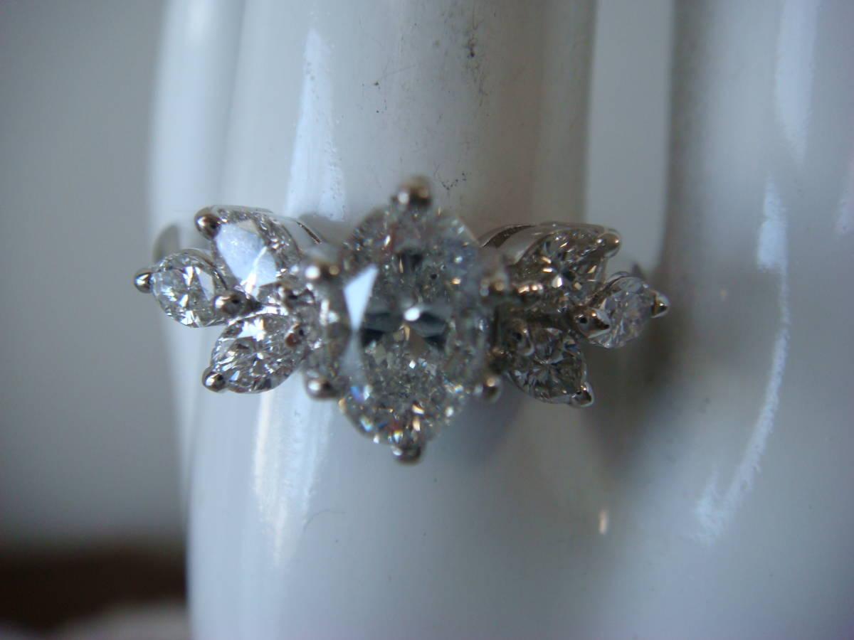 ◎オーバルカット 1,057カラット ダイヤモンドリング◎_画像7