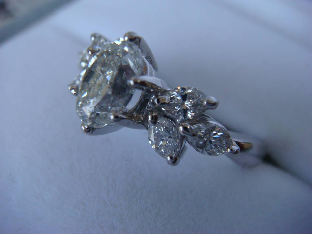 ◎オーバルカット 1,057カラット ダイヤモンドリング◎_画像3