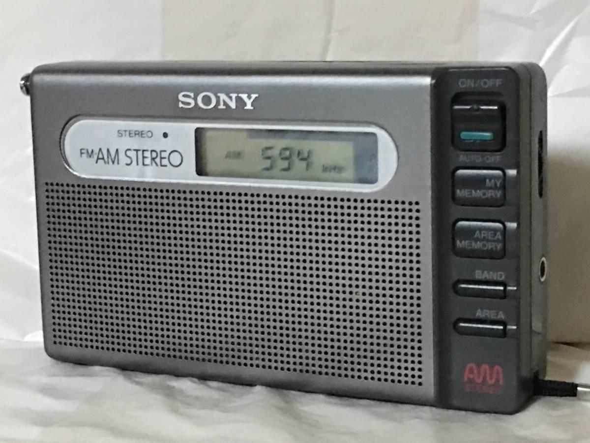 ?#22303;?#28961;料 SONY SRF-m100 AMステレオ/FMステレオ ラジオ 最高感度受信 PLLシンセ?#21333;ぅ订`