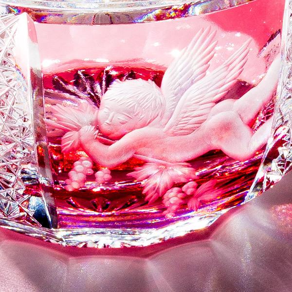 【2021即決!】Jewel Kiriko 江戸切子×花岡グラヴィール 天使と葡萄の酒杯 3/3締切_画像1