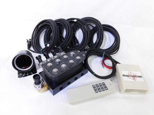 エアーマネージメントKIT Ver.3 エアサス 電磁弁 エアーゲージ ワイヤレスリモコン エアサスコンプレッサー タンク VIAIRなどに_画像3