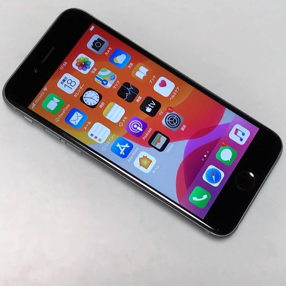 SIMフリー iPhone 6S スペースグレイ 128GB MKQT2J/A バッテリー容量100% アクティベーションロック解除済 docomo MVNO可 SIMロック解除済