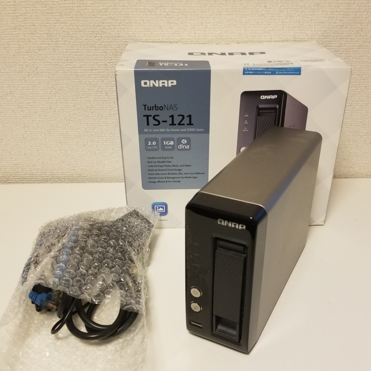 5TB NAS【 QNAP TS-121 + WD50PURX 5TB/Western Digital/WD-Purple/5700RPM】中古
