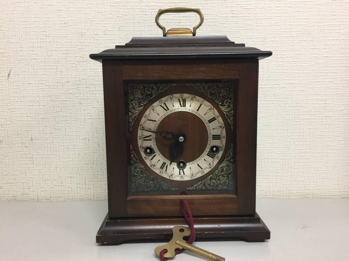 FCHATY ゼンマイ式 木製 置き時計 ドイツ製 アンティーク 動作確認済   FF333   B4.4