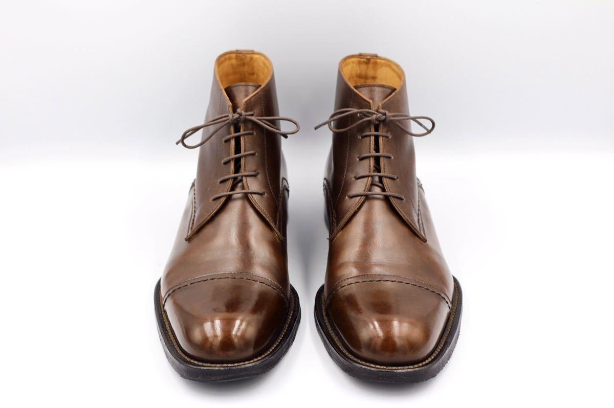 hermes boots エルメス レースアップブーツ ブーツ 紳士靴 40 25cm 茶 /バーキン ケリー スカーフ