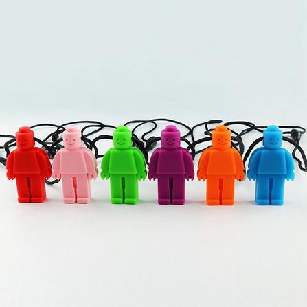 Y2210☆★☆食品グレードシリコーン感覚チュアブル置物玩具シリコーンおしゃぶりロボットかむネックレス子供のためのベビー☆★☆_画像3