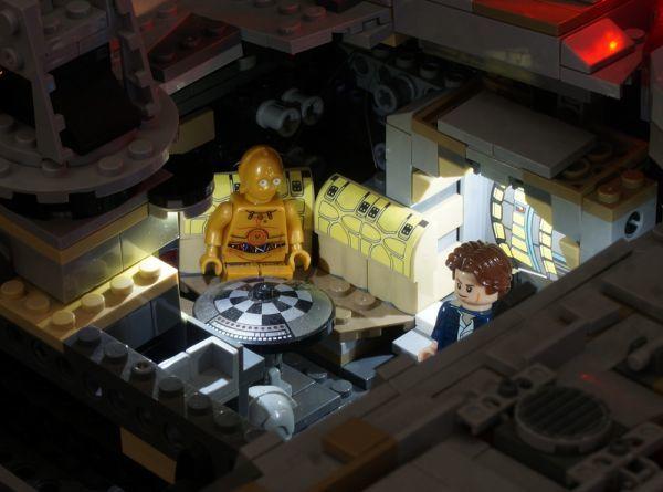LEGO レゴ MOC スター・ウォーズ 75192 互換 スター・ウォーズ ミレニアム・ファルコン LEDライト 照明 キット カスタム パーツ DL131_画像6