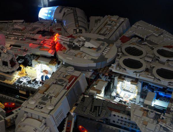 LEGO レゴ MOC スター・ウォーズ 75192 互換 スター・ウォーズ ミレニアム・ファルコン LEDライト 照明 キット カスタム パーツ DL131_画像4