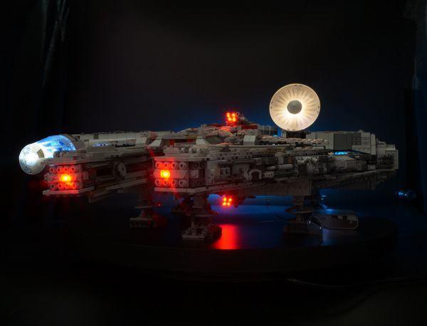 LEGO レゴ MOC スター・ウォーズ 75192 互換 スター・ウォーズ ミレニアム・ファルコン LEDライト 照明 キット カスタム パーツ DL131_画像3