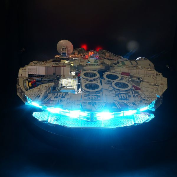 LEGO レゴ MOC スター・ウォーズ 75192 互換 スター・ウォーズ ミレニアム・ファルコン LEDライト 照明 キット カスタム パーツ DL131_画像2