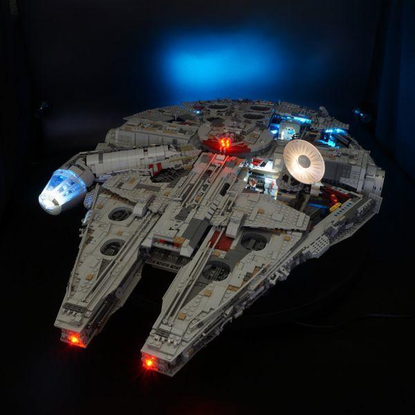 LEGO レゴ MOC スター・ウォーズ 75192 互換 スター・ウォーズ ミレニアム・ファルコン LEDライト 照明 キット カスタム パーツ DL131_画像1