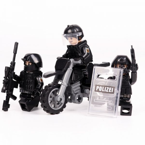 MOC LEGO レゴ ブロック 互換 SWAT 特殊部隊 アンチテロ部隊 カスタム ミニフィグ 6体セット 大量武器・装備・兵器付き D225_画像4