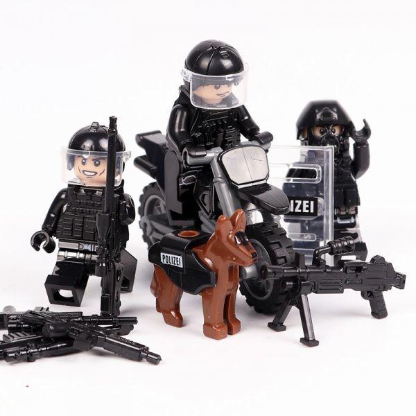 MOC LEGO レゴ ブロック 互換 SWAT 特殊部隊 アンチテロ部隊 カスタム ミニフィグ 6体セット 大量武器・装備・兵器付き D225_画像7
