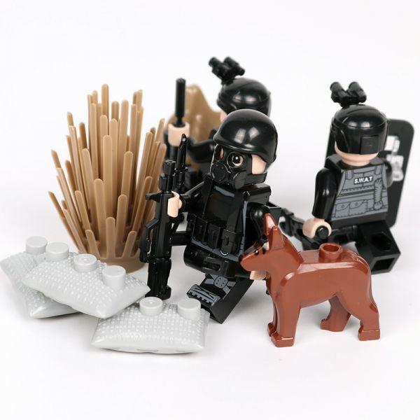 MOC LEGO レゴ ブロック 互換 SWAT 特殊部隊 アンチテロ部隊 カスタム ミニフィグ 6体セット 大量武器・装備・兵器付き D219_画像5