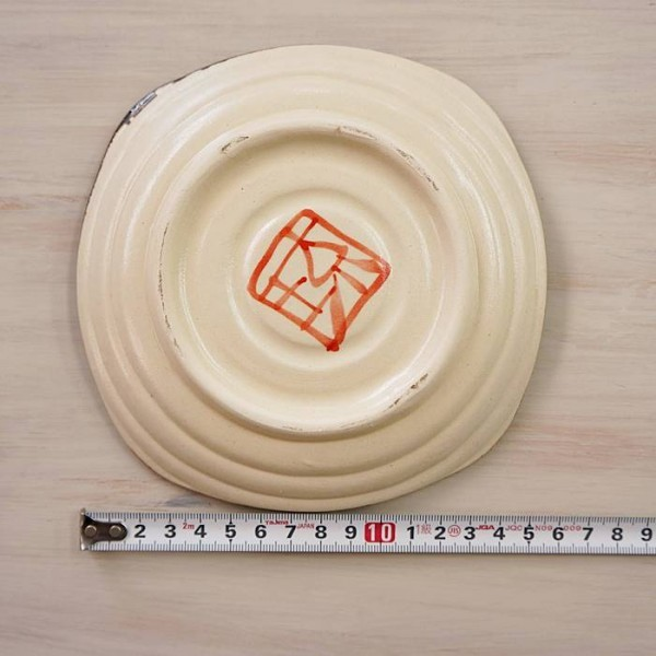 沖縄やちむん 取皿 角皿 琉球焼 ドット 4枚セット   やちむん 食器 沖縄 沖縄陶器 沖縄焼き tk4_画像5