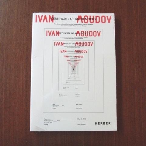 Ivan Moudov / Certificate of Authenticity■芸術新潮 美術手帖 図録 カタログ アイデア デザイン parkett art review _画像1
