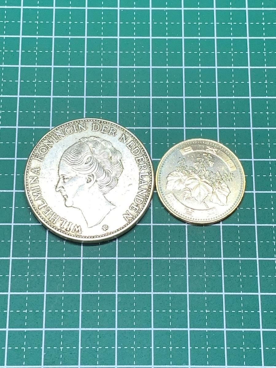Ωオランダ ウィルヘルミナ 2G Wilhelmina 1919 検)古銭硬貨貨幣銀貨系 レア記念 メダル レプリカ復刻 オメガコイン な18_画像6