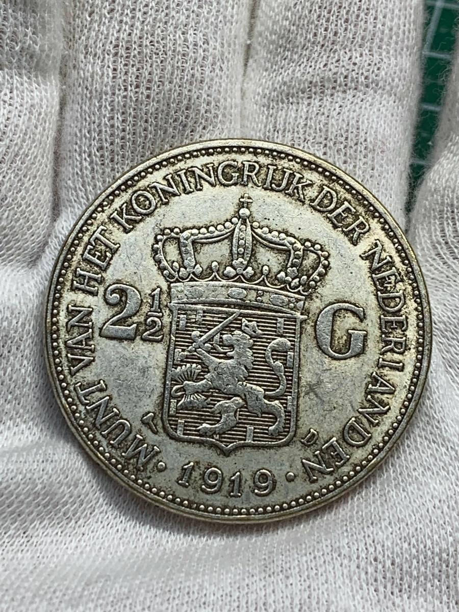 Ωオランダ ウィルヘルミナ 2G Wilhelmina 1919 検)古銭硬貨貨幣銀貨系 レア記念 メダル レプリカ復刻 オメガコイン な18_画像5