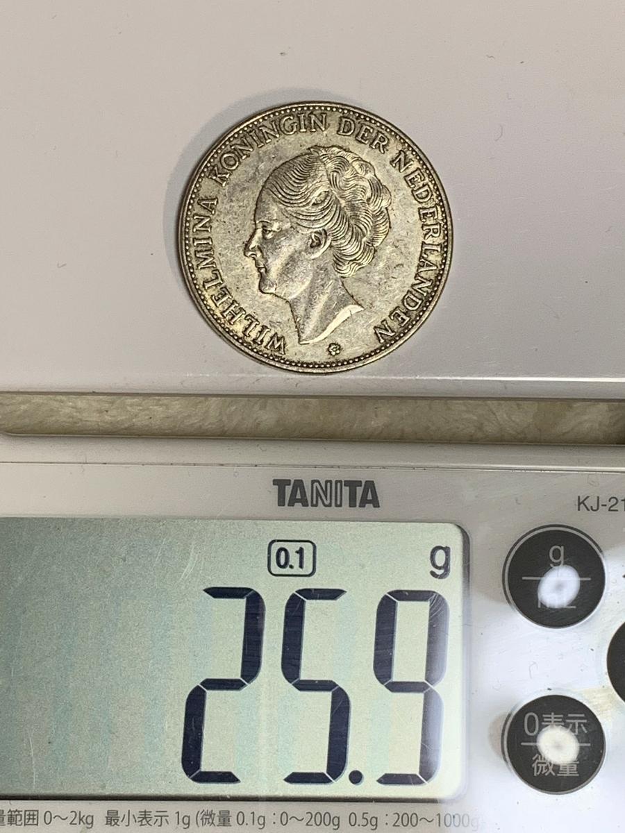 Ωオランダ ウィルヘルミナ 2G Wilhelmina 1919 検)古銭硬貨貨幣銀貨系 レア記念 メダル レプリカ復刻 オメガコイン な18_画像7