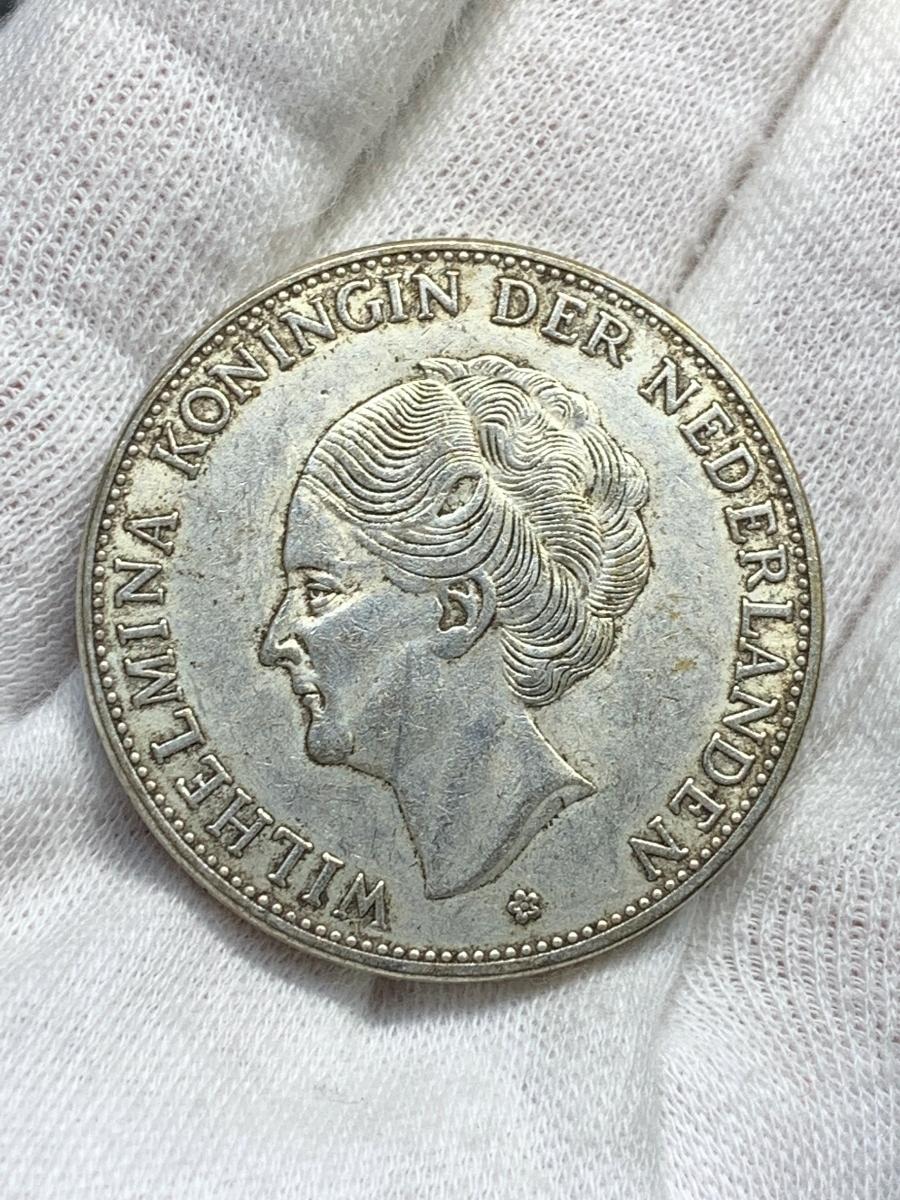 Ωオランダ ウィルヘルミナ 2G Wilhelmina 1919 検)古銭硬貨貨幣銀貨系 レア記念 メダル レプリカ復刻 オメガコイン な18_画像4
