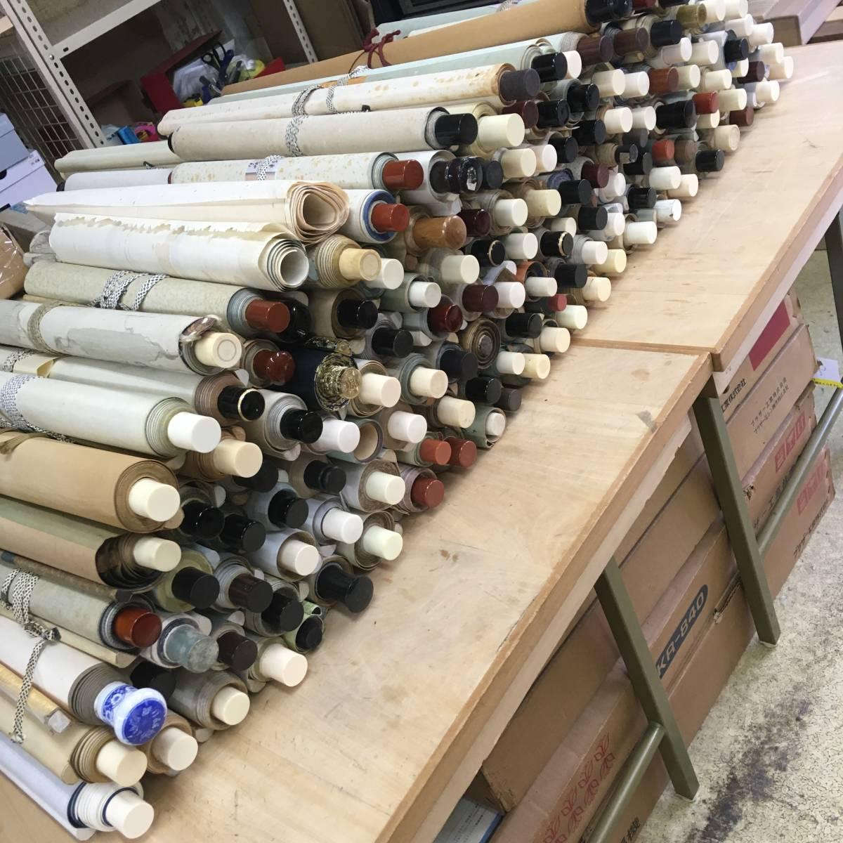 遺品整理などで集めていた掛軸 大量 まとめて 約140本 中国 古書 古画 書 花鳥 仏画 拓本 紙本 絹本 等 №931