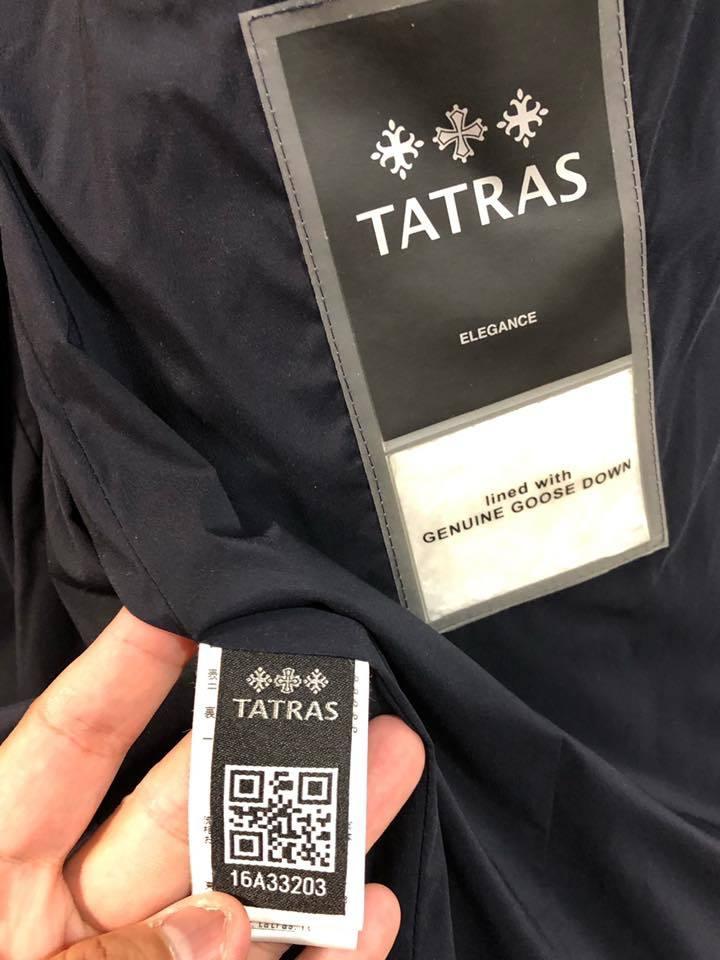 美品 TATRAS タトラス LIRONE リローネ ダウンジャケット ネイビー サイズ4 ウール MTA16A4374_画像6