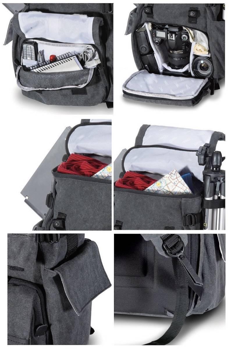 【訳あり】NATIONAL GEOGRAPHIC ウォークアバウト 中型リュックサック NG W5070 一眼レフカメラ レンズ スピードライト パソコン 収納_画像6