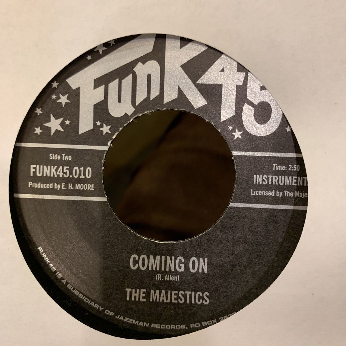 The Majestics - Funky Chick / Coming On 中古レコード_画像2