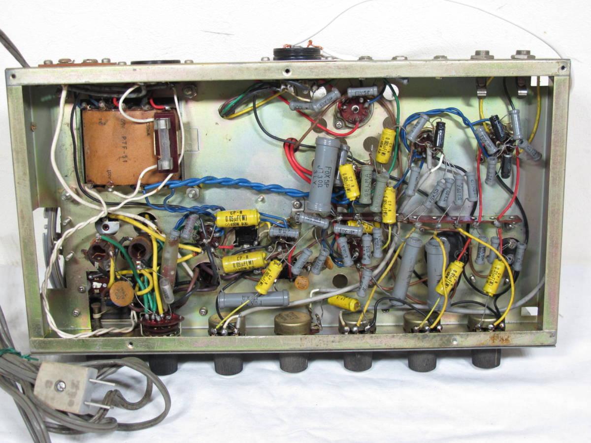 レア アンティーク★東芝 PORTABLE アンプ VA-12R ★ ラジオ付き業務用アンプ(ポータブル)AMラジオは鳴りました。_画像8