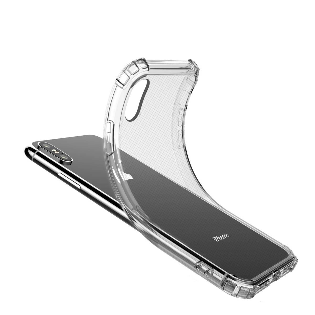iPhone XS Max TPUケース透明ソフトクリアケース TPU 耐衝撃 衝撃吸収 ストラップホール付き 全面保護カバー 傷つけ防止_画像5