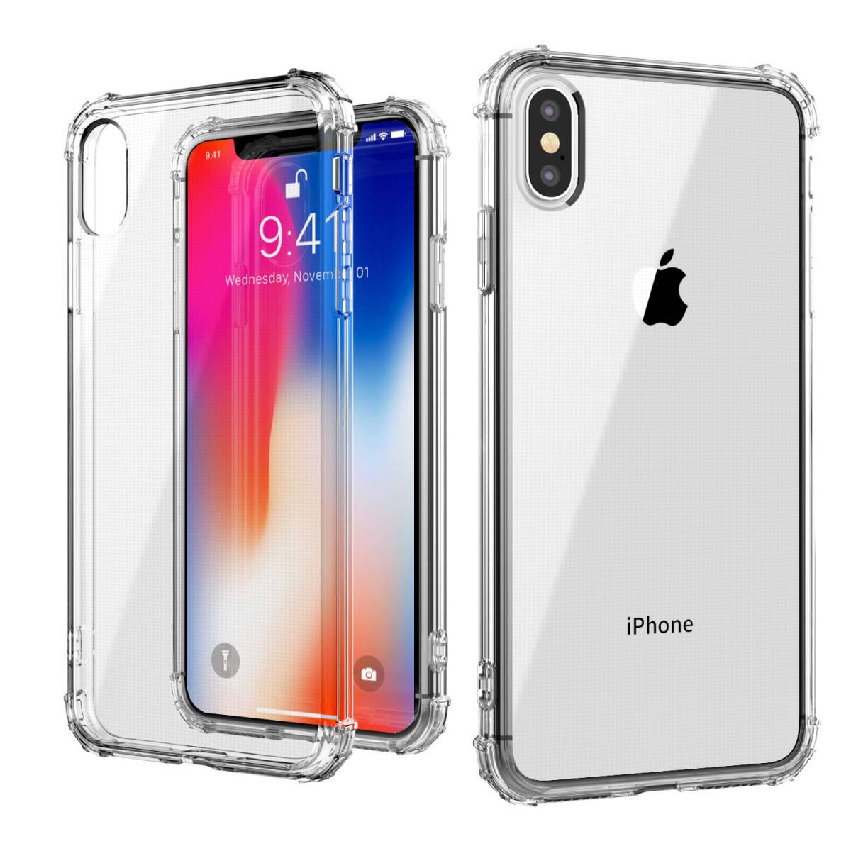 iPhone XS Max TPUケース透明ソフトクリアケース TPU 耐衝撃 衝撃吸収 ストラップホール付き 全面保護カバー 傷つけ防止_画像1