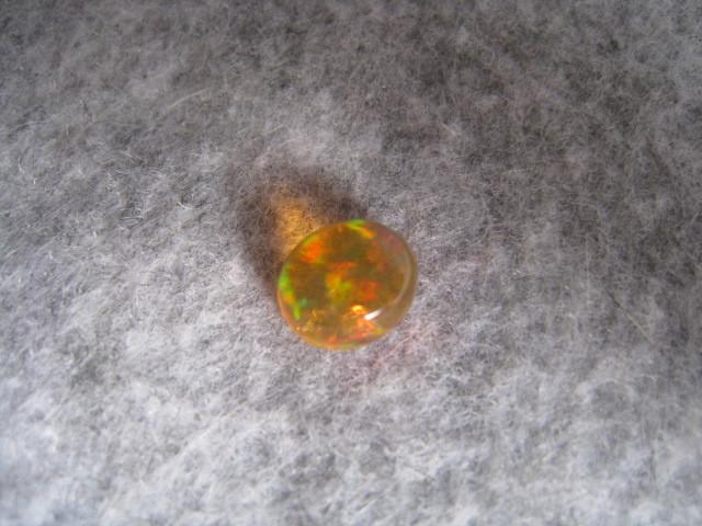 [SAMU]絶品!!遊色天然メキシコオパール7.8x6.8mm 裸石、ルース★重さ約1.4ct! _画像7