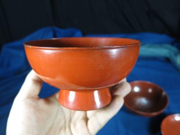 根来四つ碗 江戸時代初期~前期 漆工 塗り物 漆器 _画像5