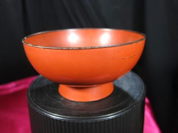 根来碗 アイヌ用 桃山~江戸時代前期 漆工 漆器 儀式用_画像1