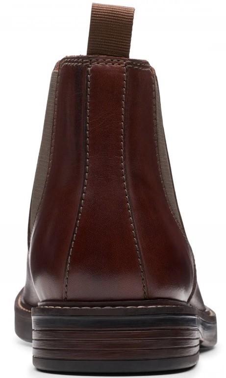 Clarks 27.5cm/10.5 サイドゴア ブーツ マホガニーブラウン プレーン ビジネス レザー 革 スーツ チェルシー スニーカー カジュアル H307_画像8