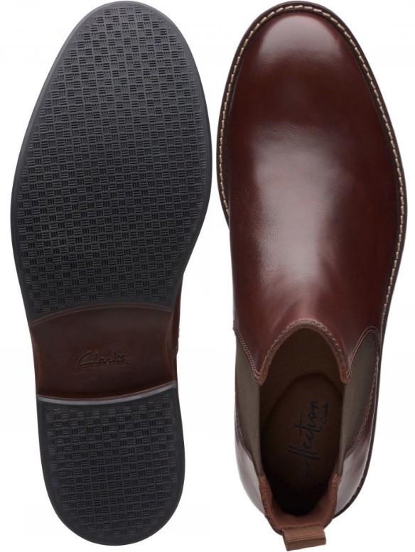 Clarks 27.5cm/10.5 サイドゴア ブーツ マホガニーブラウン プレーン ビジネス レザー 革 スーツ チェルシー スニーカー カジュアル H307_画像10