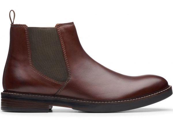Clarks 27.5cm/10.5 サイドゴア ブーツ マホガニーブラウン プレーン ビジネス レザー 革 スーツ チェルシー スニーカー カジュアル H307_画像2