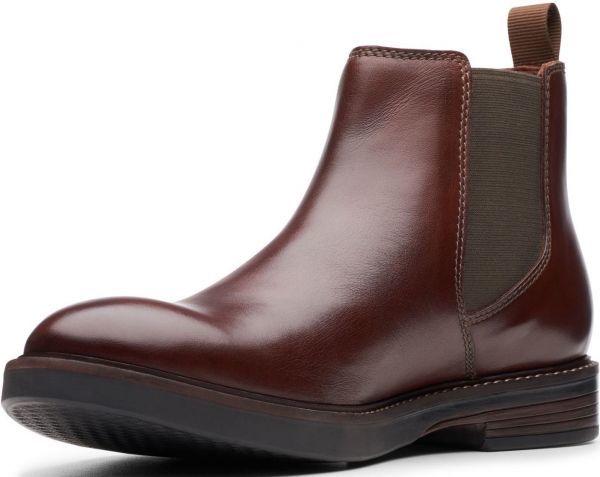 Clarks 27.5cm/10.5 サイドゴア ブーツ マホガニーブラウン プレーン ビジネス レザー 革 スーツ チェルシー スニーカー カジュアル H307_画像4