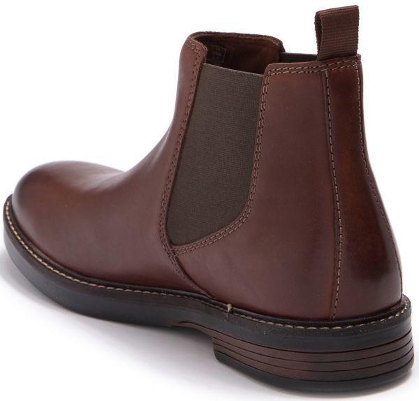 Clarks 27.5cm/10.5 サイドゴア ブーツ マホガニーブラウン プレーン ビジネス レザー 革 スーツ チェルシー スニーカー カジュアル H307_画像3