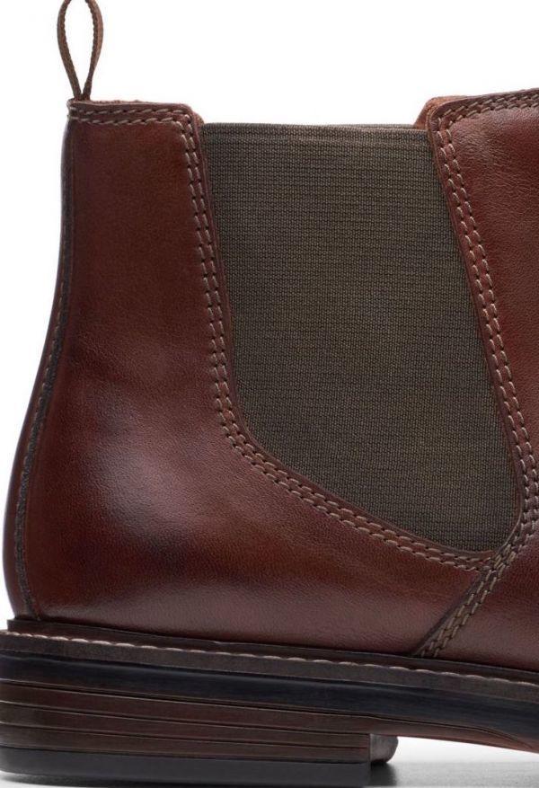 Clarks 27.5cm/10.5 サイドゴア ブーツ マホガニーブラウン プレーン ビジネス レザー 革 スーツ チェルシー スニーカー カジュアル H307_画像9