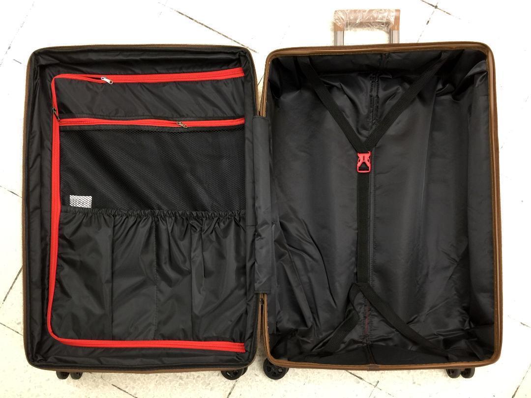 大型軽量スーツケース 8輪キャリーバッグ TSAロック付き Lサイズ 黒_画像4