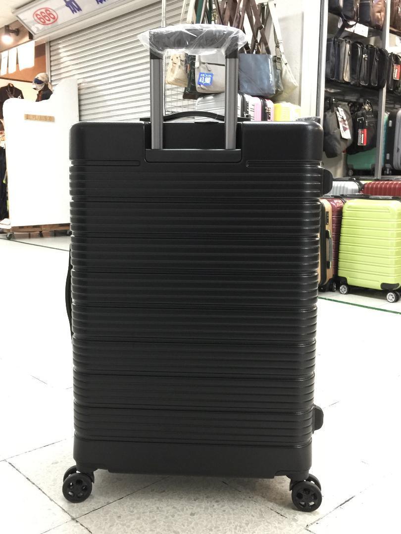大型軽量スーツケース 8輪キャリーバッグ TSAロック付き Lサイズ 黒_画像2
