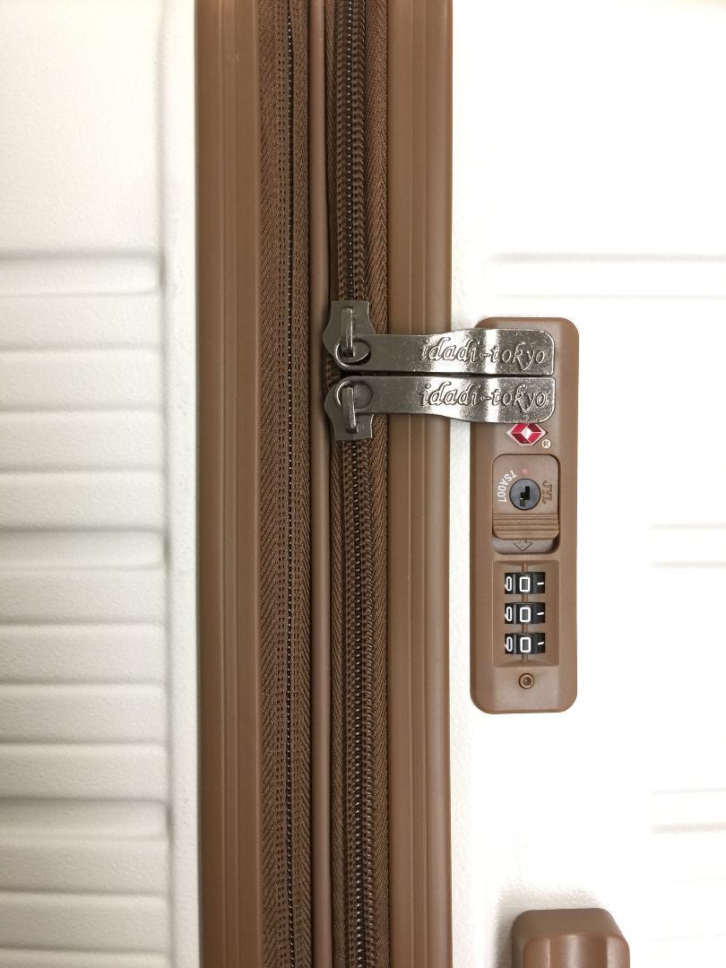 大型軽量スーツケース 8輪キャリーバッグ TSAロック付き Lサイズ 黒_画像3