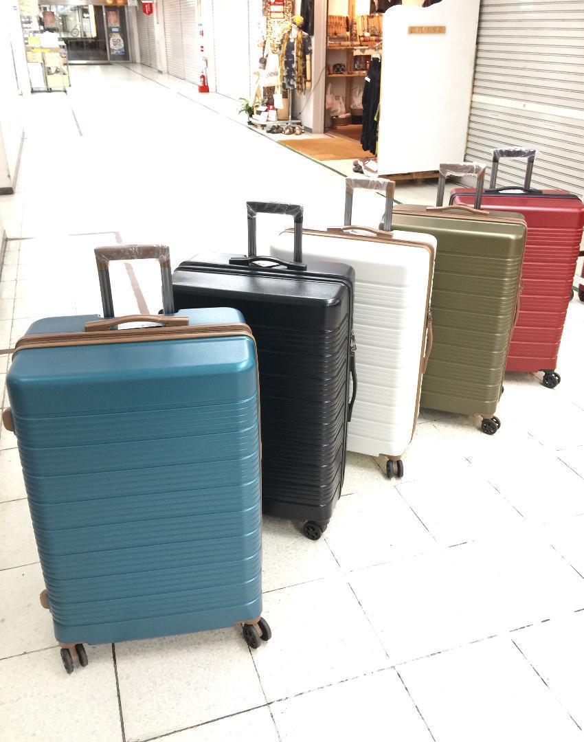 大型軽量スーツケース 8輪キャリーバッグ TSAロック付き Lサイズ 黒_画像5