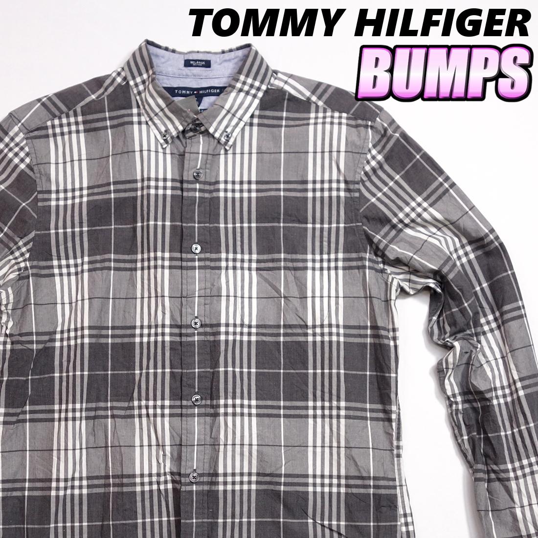 トミーヒルフィガー TOMMY チェックシャツ 長袖 メンズ M ボタンダウン カジュアル アメリカ USA直輸入 古着 MTH-3-2-0043_画像1