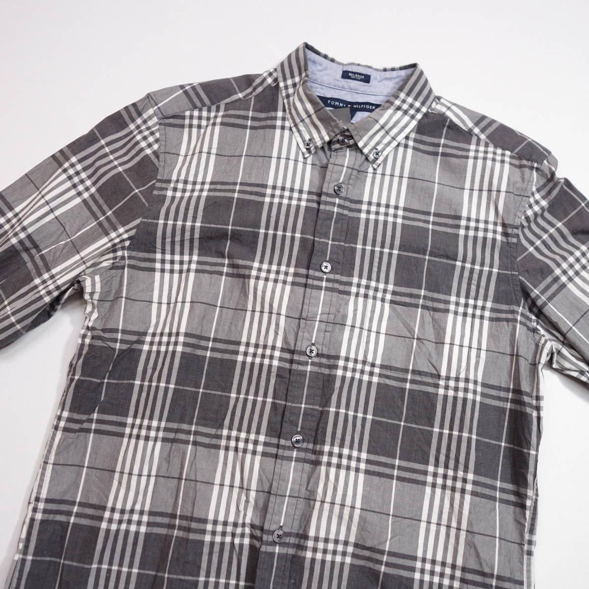トミーヒルフィガー TOMMY チェックシャツ 長袖 メンズ M ボタンダウン カジュアル アメリカ USA直輸入 古着 MTH-3-2-0043_画像3