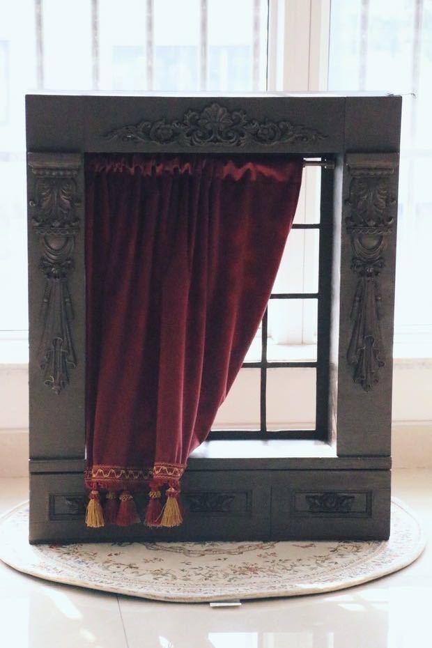 BJD用 球体関節人形用 背景壁 窓 7点セット SD/DD/MSD/MDDサイズ ブラウン 色のオーダー可能 doll ドール用 撮影 ZYー002_画像1