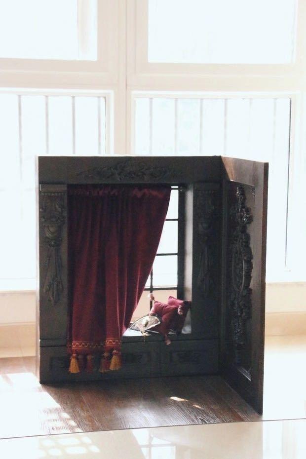 BJD用 球体関節人形用 背景壁 窓 7点セット SD/DD/MSD/MDDサイズ ブラウン 色のオーダー可能 doll ドール用 撮影 ZYー002_画像2