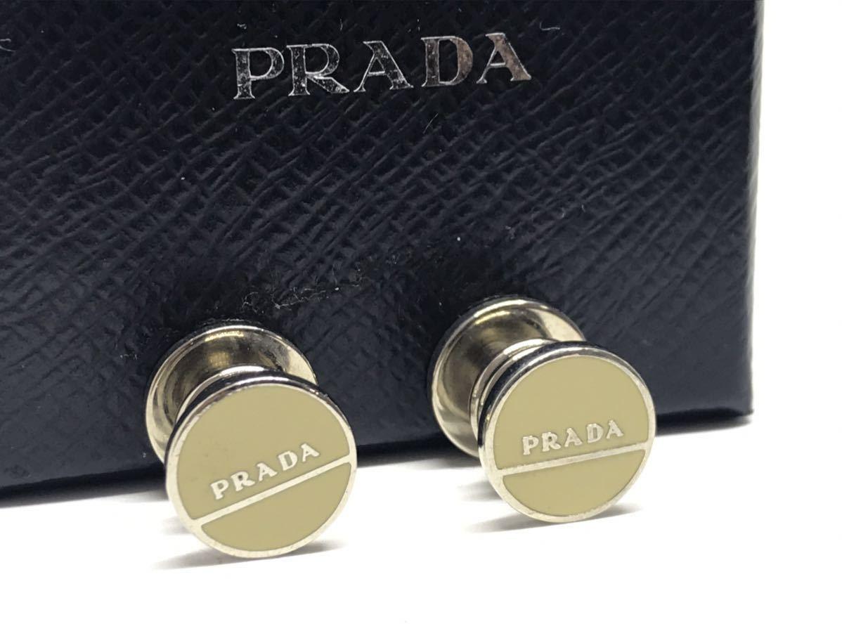 PRADA プラダ オーバル ホワイト カフス カフリンクス カフスボタン_画像2